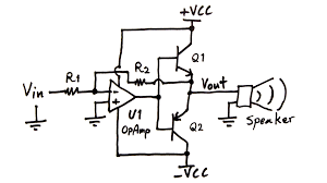 pa300 component layout of the printed circuit board for w power