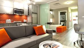 Grey White Kitchen Plain White Kitchen Orange Accents S Intended Inspiration