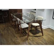 joybird hesse dining table with glass top 5 madmen don draper s room joybird hesse dining table