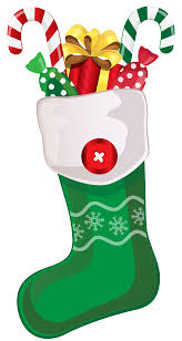 christmas stocking with toys clipart collection