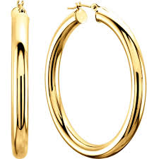 large gold hoop earrings 4mm thick 14k gold large hoop earrings 1 1 2 only 498 00 large