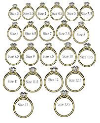 size 9 ring wedding ring size chart wedding ring size online wedding rings