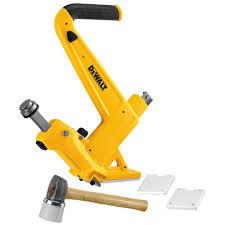 Hardwood Floor Nail Gun Dewalt 16 Gauge Manual Hardwood Flooring Nailer Dwmfn 201 The