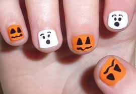 halloween nail art designs ideas nail paint stickers happy