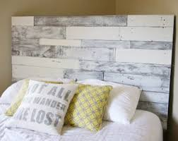 How To Build A Platform Bed With Pallets by Pallet Headboard Etsy