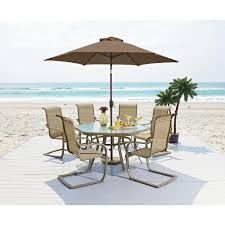 Garden Oasis Dining Set by Patio Furniture Dining Set This 7 Piece Long Beach Bundle Is The