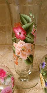 How To Paint A Glass Vase With Acrylic Paint 45 Best Hand Painted Glass Bottles Images On Pinterest Glass