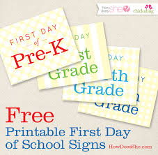 13 free first day of printable signs 13 free first day of