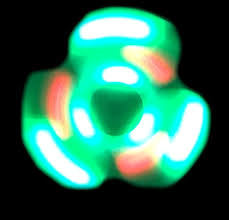 a light up fidget spinner light up fidget spinner with speakers green