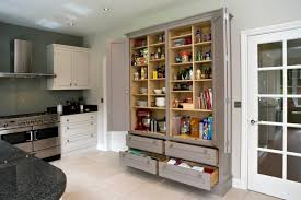 fantastic wooden kitchen pantry cabinet design two foldable swing