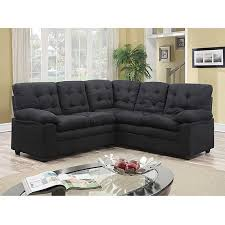 Black Microfiber Sectional Sofa Buchannan Microfiber Corner Sectional Sofa Black Walmart