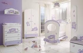 furniture funny purple white baby bedroom interior nursery