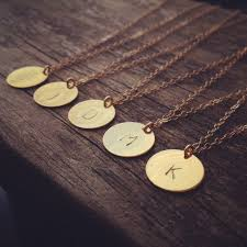 custom necklace charms 2015 collar inicial personalizada discos charm letter custom
