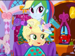 applejack hairstyles applejack new hairstyle rainbow dash gives applejack a new