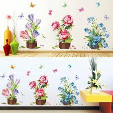 stickers pour fenetre cuisine whism étanche en pot pot de fleur papillon bricolage stickers muraux
