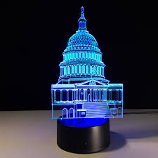 aliexpress com buy the white house shape colorful 3d night lamp