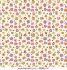 childish flowers seamless pattern raster version stock