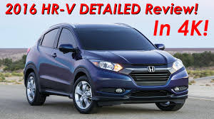 crossover honda 2016 honda hr v crossover review detailed in 4k youtube