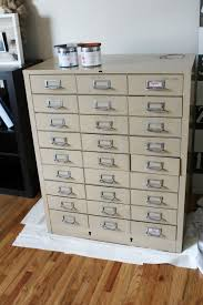 File Cabinet With Drawers Metal Filing Cabinet Makeover My Diy Envy