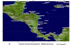 Map Of Mexico And Central America And South America by Hurricane And Tropical Storm Watch Warning Breakpoints