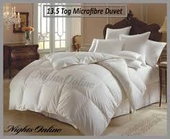 Duvet 13 5 Tog Luxury Microfibre Duvet Just Like Down Quilt 13 5 Tog All Sizes