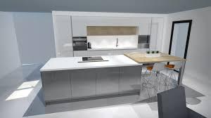 cuisines blanches et grises cuisine cuisine moderne laquã e blanc et gris brillant ã