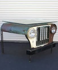 old military jeep vintage military jeep desk w sleek glass top industrial chic