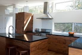 Contemporary Walnut Kitchen Cabinets - walnut kitchen cabinets contemporary with split level island bar