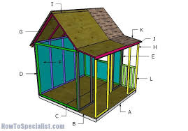 outdoor playhouse plans howtospecialist how to build step by