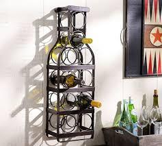 wine bottle wall mount wine rack pottery barn wall hanging wine