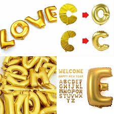 gold letter balloons best selling new 1 16 inch gold foil letter balloons hot
