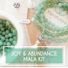 making green joy u0026 abundance green aventurine mala beads kit make your own