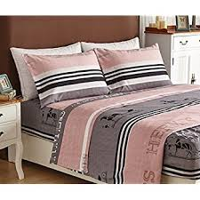 Bed Sheet Set Luxury 1800 Hotel Collection Quatrefoil