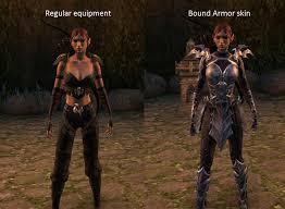 elder scrolls online light armor sets mage skill bound armor forced armor skin discussion elder