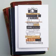 Book Birthday Card Books And Camera Card By Nic Farrell Illustration