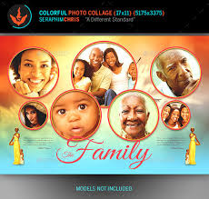 colorful photo collage template by seraphimchris graphicriver
