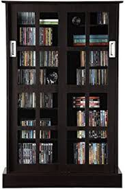 Multimedia Cabinet With Glass Doors Atlantic Windowpane 720 Multimedia Storage Wood