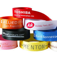 1 custom printed ribbon corporate logo branded ribbon