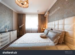 beautiful interior apartment bedroom classic style stock photo