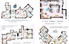 sex and the city floor plan floor plans of your favorite sitcom apartments complex