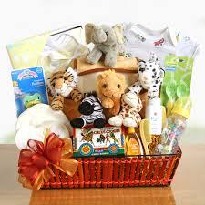 Baby Basket Gifts Noah U0027s Ark Newborn Gift Basket Hayneedle