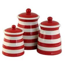 red canisters kitchen decor flag striped kitchen canisters patriotic home garden pinterest