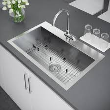 Top Kitchen Sink Exclusive Heritage 33 X 22 Inch Single Bowl Top Mount Stainless