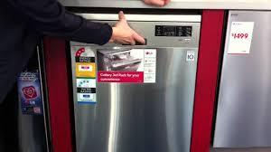 Stainless Steel Lg Dishwasher Lg Stainless Steel Dishwasher Ld 1421t2 Youtube
