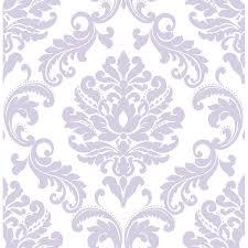 purple ariel peel and stick wallpaper by nuwallpaper