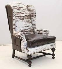 stately patchwork leather wing chair western accent chairs a