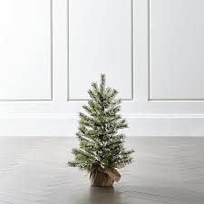 small flocked pine tree crate and barrel