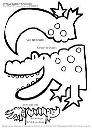 drawn crocodile printable pencil and in color drawn crocodile