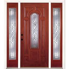 feather river doors 67 5 in x81 625in silverdale patina 3 4 oval