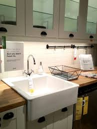White Kitchen Sink Faucets Home Design Appealing Ikea Farmhouse Sink For Your Kitchen Design